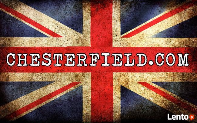 Chesterfield sofa 1 os Brighton NIEBIESKA