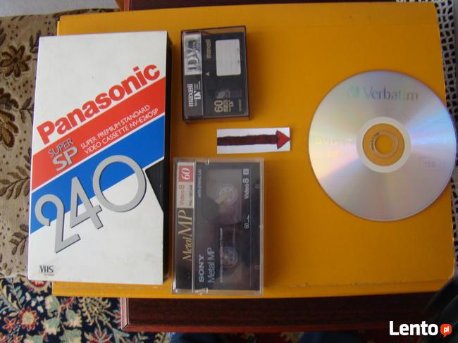Przegrywanie kaset VHS oraz Video 8 na płytę DVD