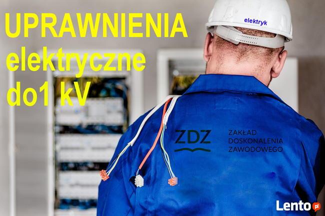 Uprawnienia elektryczne do 1 kV elektryk zostań elektrykiem