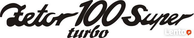 Zetor100 Super Turbo naklejka szyld napis