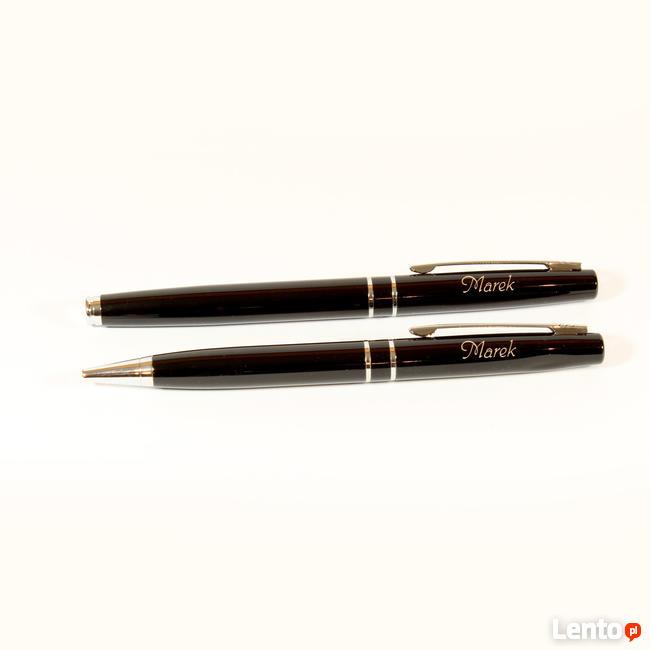 Zestaw pióro i długopis w eleganckim etui z dedykacją!