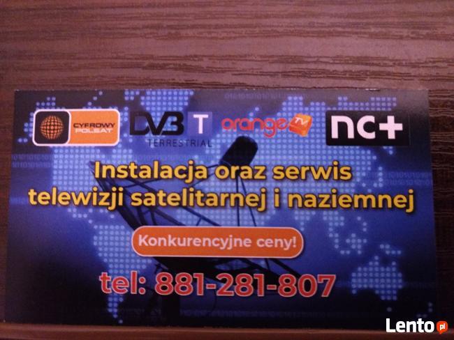 Montaż anten, ustawianie serwis anten tv-sat, naziemna 24/7