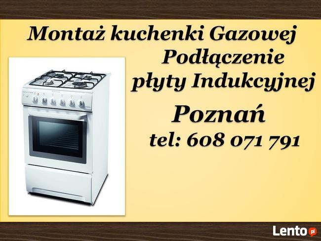 Chłodny Montaż Kuchenki gazowej, indukcyjnej 100 zł INSTALATOR POZNAŃ Poznań MX94