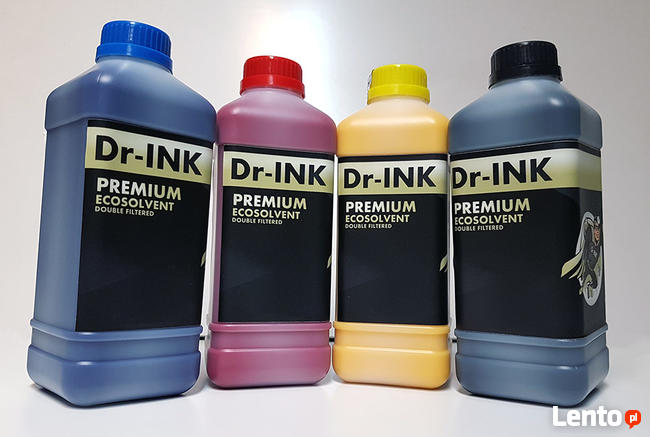 Tusz ECOSOLVENT C M Y K Flush 1 LITR Dr-INK Jakość FV Wysyłk