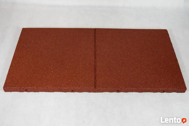 Płyta plac zabaw gumowa bezpieczna nawierzchnia HIC 1,5 red