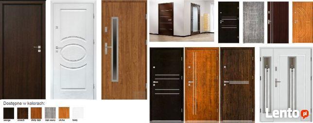 Wewnętrzne i zewnętrzne-WEJŚCIOWE drzwi z montażem.