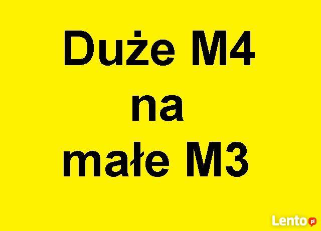 Zamienimy M4 w bloku komunalnym na M2 lub M3 też Bloki