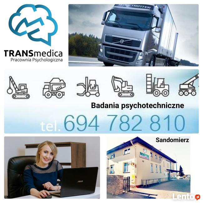 Badadnia psychotechniczne kierowców, psychotesty-Sandomierz