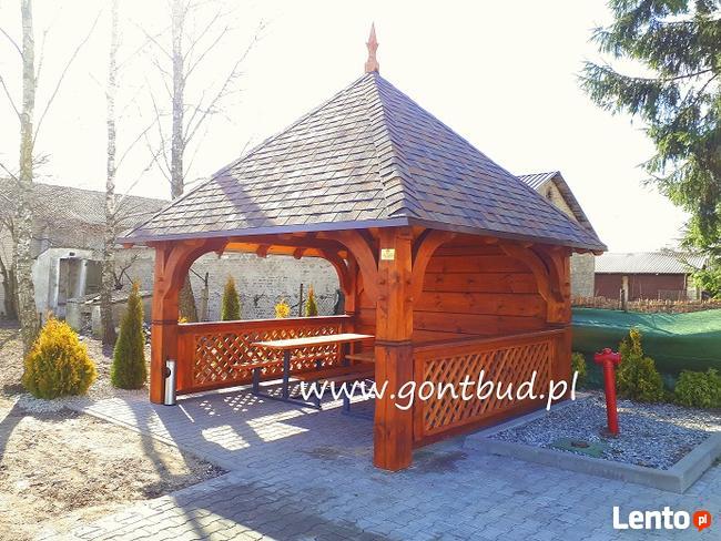 Gont Bud Altana Altanka Altany Altanki Drewniane Ogrodowe