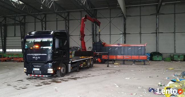 Transport HDS warszawa tir winda naczepa z wózkiem widłowym