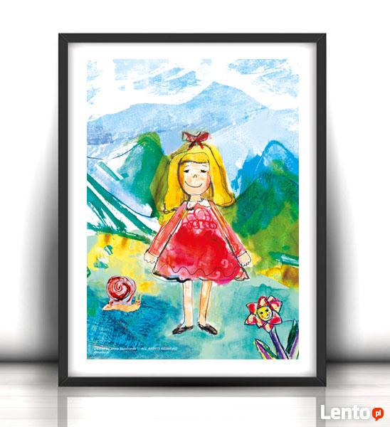 ładny plakat dla dziewczynki, obrazek do pokoju dziewczynki