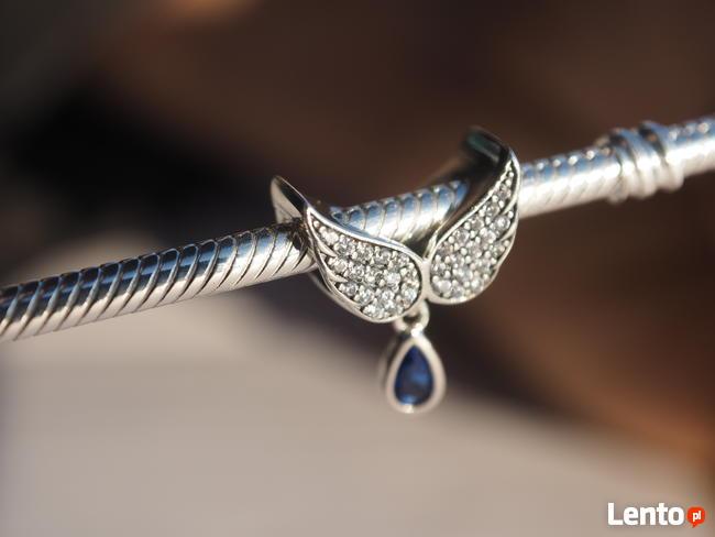 Pandora Charms koralik zawieszka skrzydła anioł anioła cyrko
