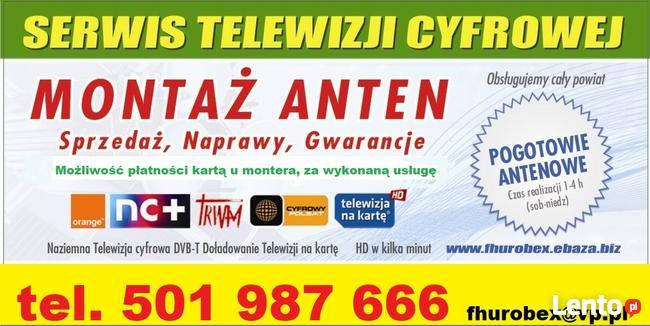 Montaż anten TV SAT DVB-T