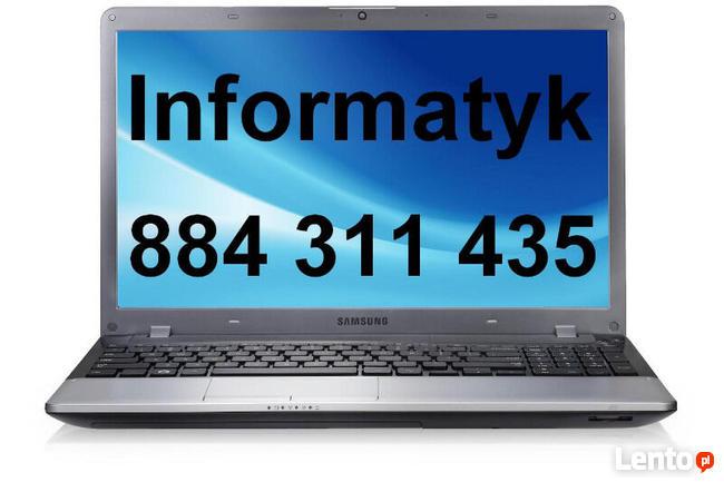 Informatyk Naprawa Laptopów Komputerów dojazd do klienta