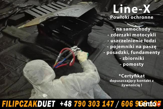 Powłoki ochronne Line-X na samochody terenowe quady motocykl