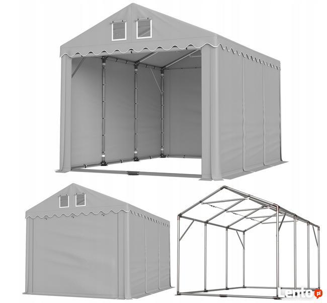 Namiot PRESTIGE 4x6-4m magazynowy HALA PRZEMYSŁOWA magazyn
