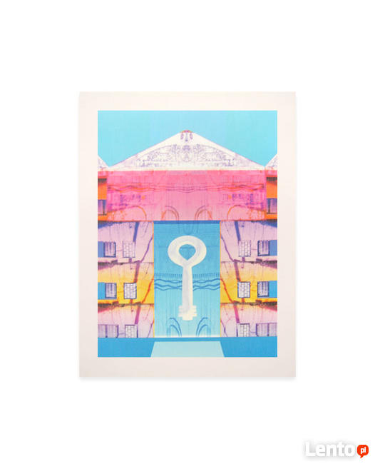 Pastelowy plakat, pastelowa grafika, obraz patselowe kolory
