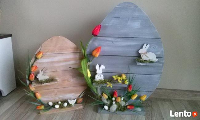 Archiwalne Jajko Drewniane Z Palet Ozdoba Wielkanoc Cena Od