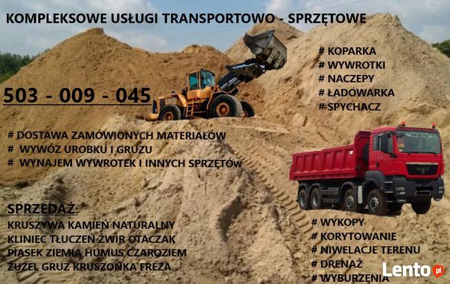 Transport Koparka Kruszywa Kamień Tłuczeń Kliniec Piasek Gru