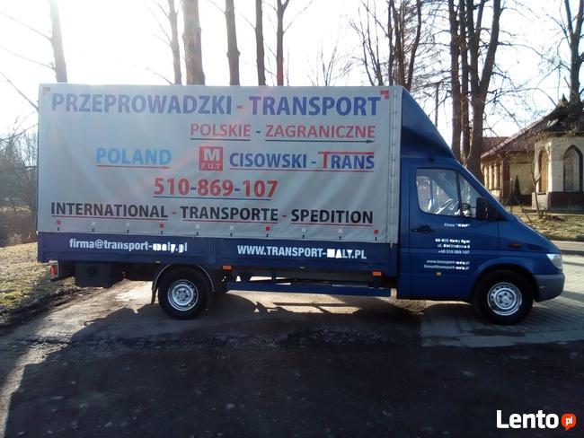 TRANSPORT-PRZEPROWADZKI=CAŁA POLSKA I ZAGRANICA-:510-869-107