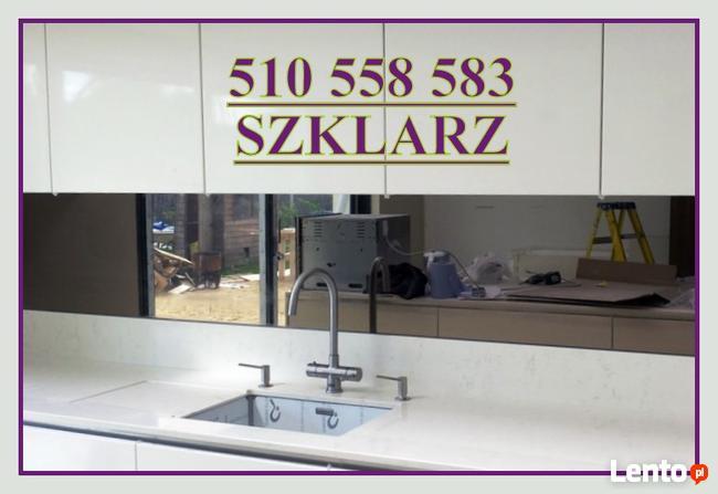 SZKLARZ lustro na wymiar KABINY lacobel panele do kuchni