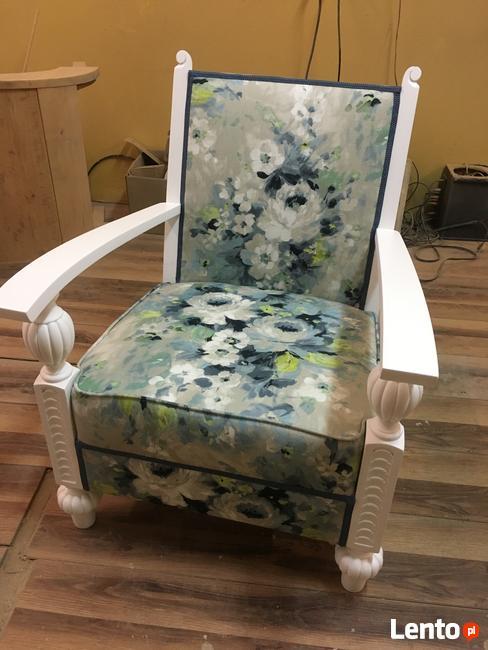 Sprzedam fotel po renowacji z Norwegii, renowacja mebli Kakó
