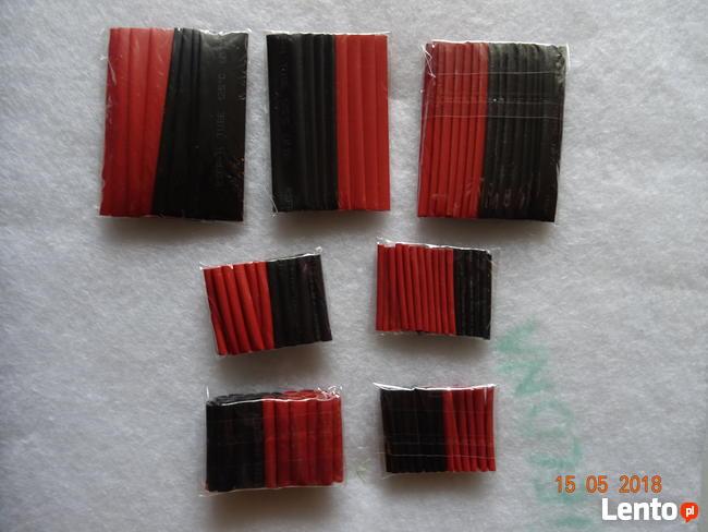 Koszulki termokurczliwe 127 sztuk kolorowe