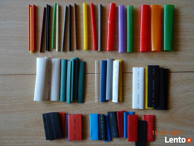 Rurki termokurczliwe 60 sztuk kolorowe