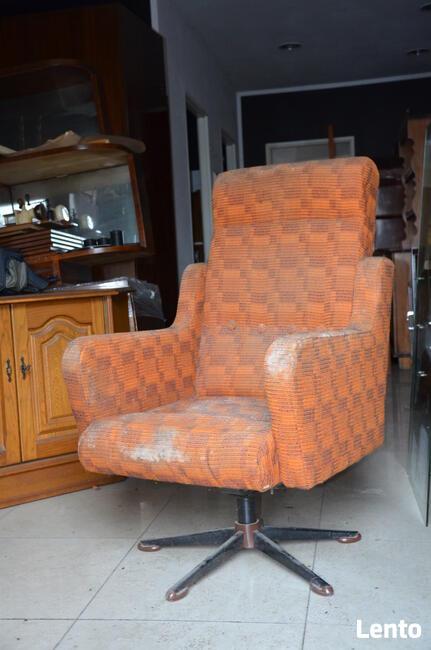 Fotel klubowy PRL, Loft, Meble PRL, Vintage, Fotel obrotowy