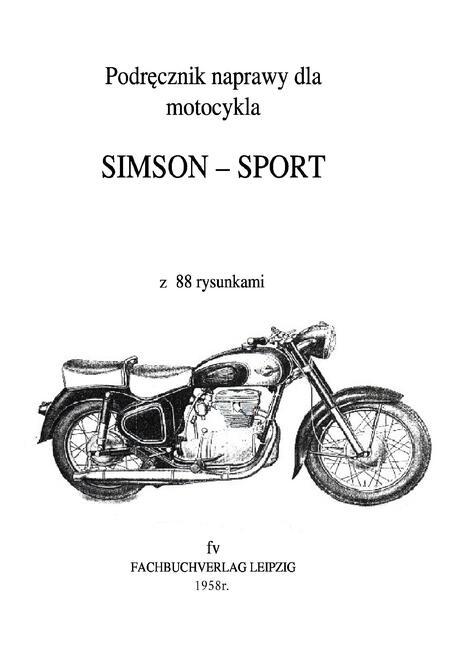 PODRĘCZNIK SIMSON 425S 425T AWO AVO SPORT TOURIST j.polski