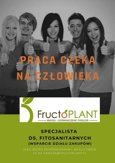 Specjalista ds. fitosanitarnych - administracja dz. zakupów
