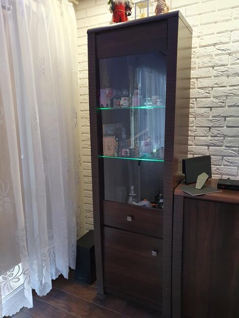 Zestaw senegal komoda tv witryna podswietlana komoda mala