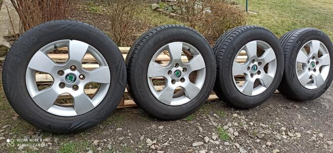 Felgi Koła Aluminiowe SKODA 195/65/R15 7mm 5x112 VW AUDI SEA