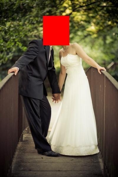 Suknia ślubna plisowana -welon gratis!