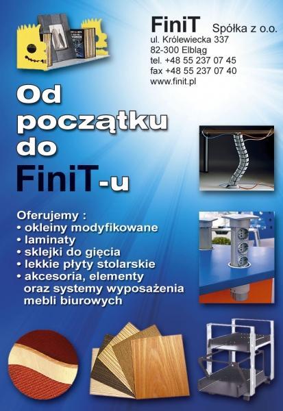 Finit-okleiny, laminaty, sklejka, płyta stolarska, akcesoria