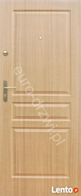 Drzwi drewniane metalowe do bloku z montażem Poznań OD RĘKI