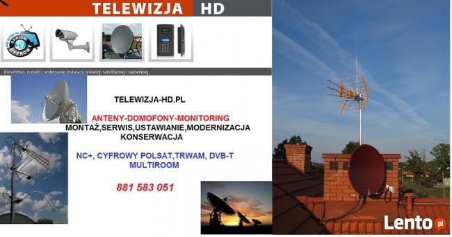 Motaż,serwis anten sat/tv.Monitoring,domofony. Nc+.Serock