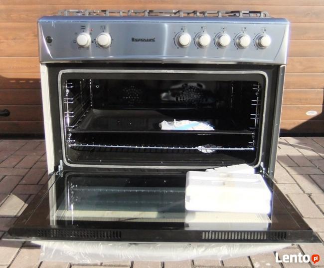 Kuchnia Gazowo Elektryczna Piec Konwekcyjny 90cm Grill Rozen Pila