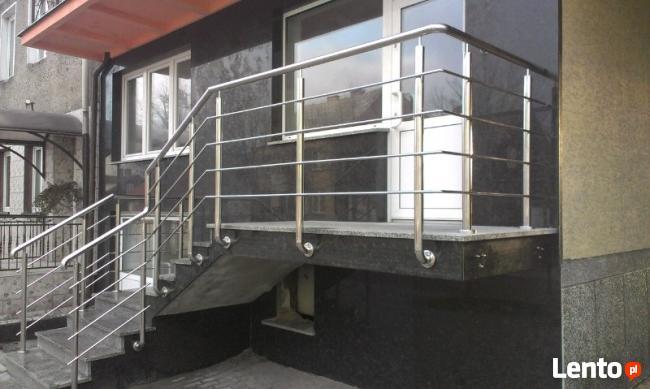 Balustrady, balkony, poręcze ze stali nierdzewnej