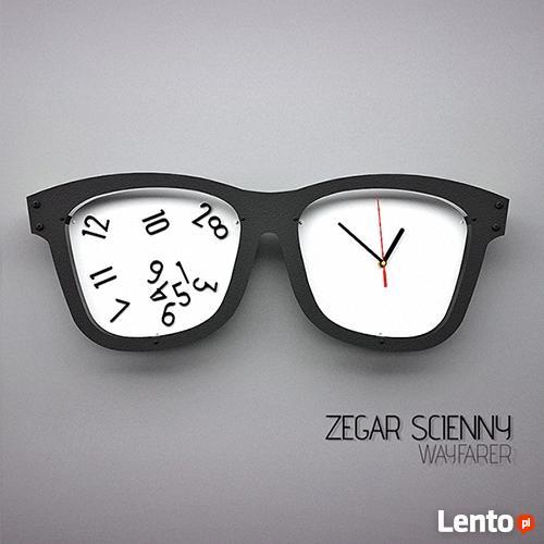 feb5037a624e56 Zegar ścienny- okulary wayfarer, oldschool design, zegarek Giżycko