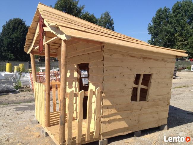 Drewniany domek dla dzieci, plac zabaw - BabaJaga