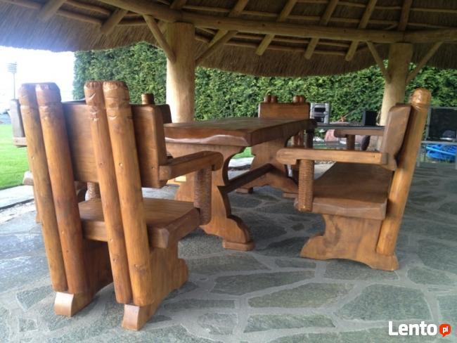 Archiwalne Solidne Masywne Drewniane Meble Biesiadne Do Ogrodu