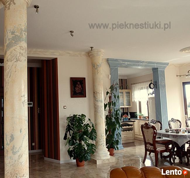 Stiuki marmurowe, alabastrowe ścian, kolumn, detali.AdamK