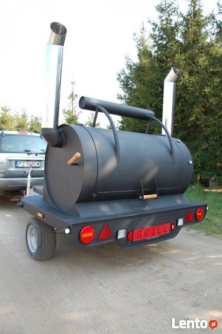 Grill na przyczepir ,przyczepa gastronomiczna Texas 4 grill