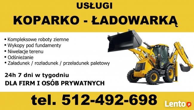 Usługi koparkowe budowlane Malbork koparko-ładowarka TANIO