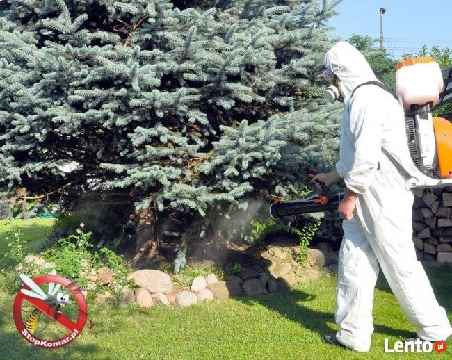 Odkomarzanie trawników przydomowych, parków, sadów