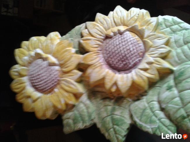 dekoracja scienna słoneczniki-złote lato