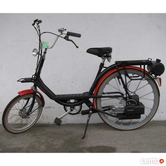 Rowery holenderskie z silnikiem spalinowym lub elektrycznym
