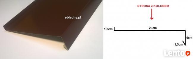 Parapet zewnętrzny stalowy metalowy Parapety 20 cm