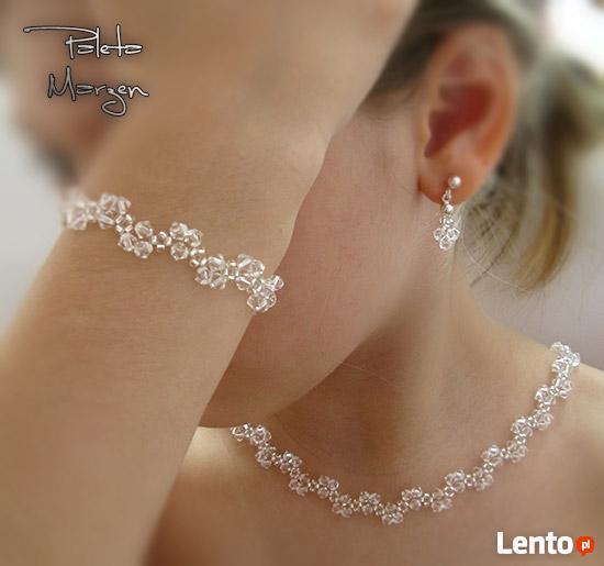Biżuteria Ślubna Swarovski zobacz srebro